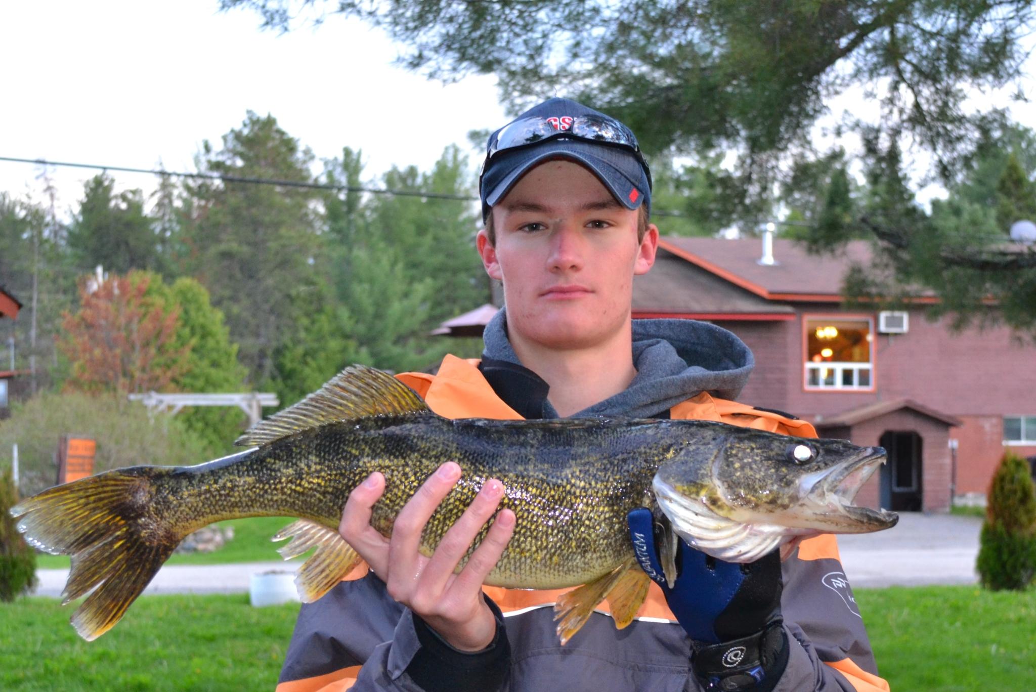 Adam with 27 inch Walleye.